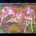 """""""Waldlichtung"""" Acryl auf Holz, Gialombardo 1997"""